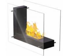 Qlima Cheminée à l'éthanol en forme de L 45 x 20,5 x 30 cm FFB 830