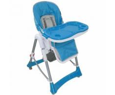 Chaise Haute pour Bébé, Chaise Pliante pour Bébé, Bleu, Taille déployée: 105 x 75 x 60 cm