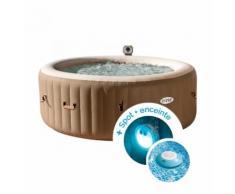 Spa gonflable Intex PureSpa Bulles 4 personnes + Spot lumineux + Enceinte flottante