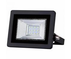Projecteur LED Phare Slim Noir 10W IP65 - couleur eclairage : Blanc Neutre 4000K - 5500K