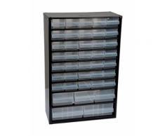 Casier métallique à tiroirs   Nbre de tiroirs: 40 tiroirs - Hauteur (mm): 465 - Longueur (mm): 307