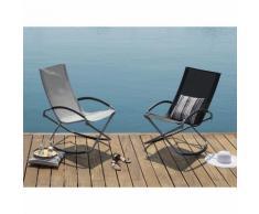 Chaise de jardin pliable grise Casto
