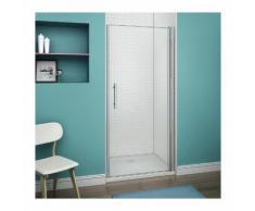 76x195cm Porte pivotante porte de douche paroi de douche en niche verre anticalcaire