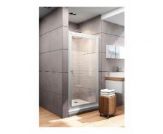 Porte de douche pivotante 90x180 cm - décor rayures - Schulte