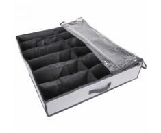 Boîte de rangement pour chaussures - 6 Paires - Gris et transparent