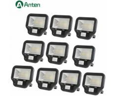 10×Projecteur LED 70W Spot LED IP65 Éclairage Extérieur et Intérieur Blanc Chaud 3000-3500K