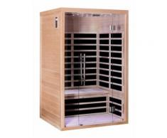 Sauna infrarouge panneaux carbone 1840W LUXE 2 places - SN?