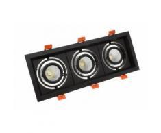 Spot LED Cree-COB Madison Orientable 3x10W Noir Blanc Chaud 3000K