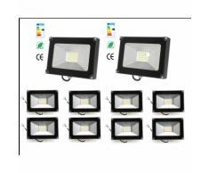 10×30W Projecteur LED Léger Spot LED Étanche IP65 Lampe Solide pour Extérieur et Intérieur Blanc