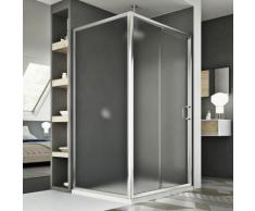 Cabine Douche 80x130 CM H185 granité C modèle Replay Duo 1 Portillon