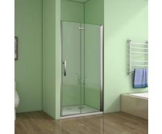 Porte de douche 110x195cm porte de douche pivotante et pliante verre anticalcaire