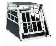 Cage, caisse, box de transport pour chien en Aluminium 54 cm x 69 cm x 50 cm