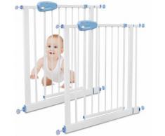 Barrière Ajustable pour Porte, Barrière de Sécurité pour Bébé, 74 à 87cm, Blanc, Pack de 2,