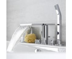 Robinet Cascade pour Baignoire avec Douchette Moderne - Design Chromé