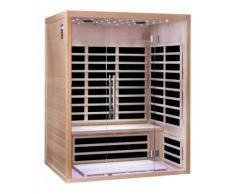 Sauna infrarouge panneaux carbone 2220W LUXE 3 places - SN?