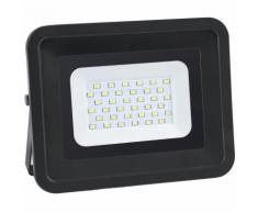 Projecteur LED 50W fin équivalent 250W IP65 Noir Optonica   Noir - Blanc Chaud (3000K)
