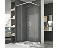 Cabine douche 80x90CM H185 transparent modèle junior