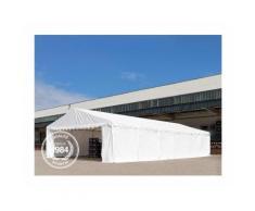 Abri / Tente de stockage PREMIUM - 6 x 12 m anti-feu en vert fonce - avec cadre de sol et renforts
