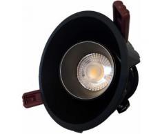 Downlight Spot LED COB Orientable Dimmable Rond Noir 9W 120 - couleur eclairage : Blanc Chaud 2300K - 3500K