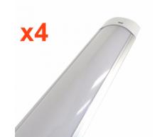 Réglette Lumineuse LED 150cm 48W - Pack de 4 - couleur eclairage : Blanc Froid 6000K - 8000K