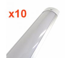 Réglette Lumineuse LED 150cm 48W (Pack de 10) - couleur eclairage : Blanc Chaud 2300K - 3500K