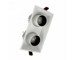 Spot LED Double Orientable Dimmable Blanc/Noir 2x9W 120 - couleur eclairage : Blanc Chaud 2300K - 3500K