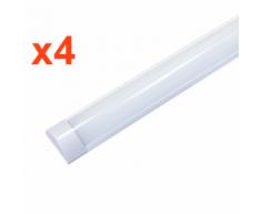 Réglette Lumineuse LED 120cm 48W (Pack de 4) - couleur eclairage : Blanc Froid 6000K - 8000K