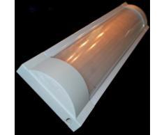 Réglette double pour Tubes LED T8 60cm Réflecteur Opaque