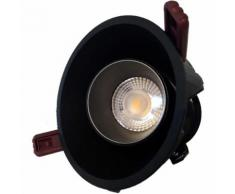 Downlight Spot LED COB Orientable Dimmable Rond BLANC/DORE 9W 120 - couleur eclairage : Blanc Froid 6000K - 8000K