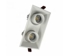 Double Spot LED COB Orientable Dimmable Rectangle BLANC 18W 120 - couleur eclairage : Blanc Chaud 2300K - 3500K