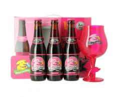 Coffret Rince Cochon Rouge (3 bières 1 verre)