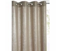 Rideau doublé lin métallisé à oeillets - CYRILLUS