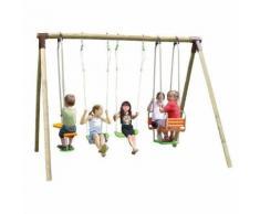 Promo - Portique bois Trigano 2,50 m. 6 enfants
