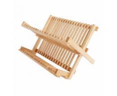 Egouttoir à vaisselle pliable bois 41 x 32 x 25 cm Marron Absolument Maison