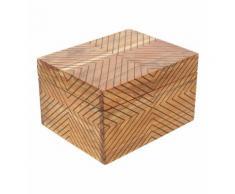 Boite de rangement en bois d'acacia Marron Absolument Maison