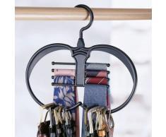 Cintre porte-ceintures et cravates - gris