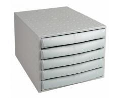 Module de classement Office Depot 5 tiroirs 5 21 8 (H) x 28 4 (l) x 38 7 (P) cm Gris