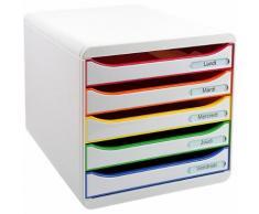 Module de classement Exacompta Big-Box Plus Classic 5 27 1 (H) x 27 8 (l) x 34 7 (P) cm Blanc Arlequin