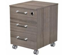 Caisson mobile Manager 56 x 46 5 x 57 5 cm Imitation noyer de Toscane