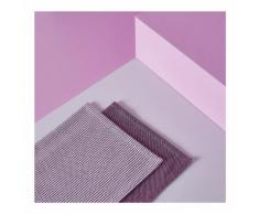 Lot de 2 torchons : 1 tissé teint et 1 chambray couleur BOUGAINVILLIER Monoprix Maison