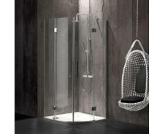 CABINE DE DOUCHE ANGULAIRE 90X90 EN VERRE 6 MM SANS STRUCTURE LONDON