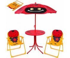 Ensemble 2 Chaises et 1 Table pour enfant avec parasol ajustable