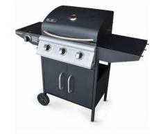 Barbecue au gaz Athos cuisine extérieure 3 brûleurs + feu latéral avec thermomètre