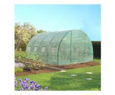 Serre de jardin tunnel 12 m² verte 3x4 m