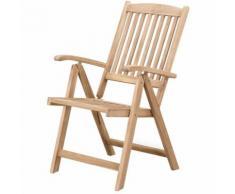 Chaise de jardin inclinable en bois RIVIERA
