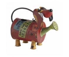 Arrosoir chien en métal laqué Chien