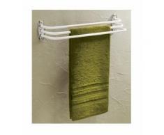 Porte serviette avec 3 barres fixes - époxy blanc