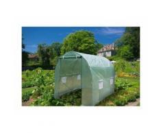 Serre de jardin tunnel 250x200x200cm - Vert translucide