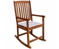 Chaise à bascule pour jardin en acacia massif