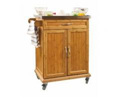 Desserte Chariot de cuisine de service roulant, Meuble Armoire de rangement cusine sur roulettes en